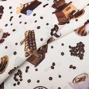 Ткань на отрез вафельное полотно набивное 150 см 5465/1 фото