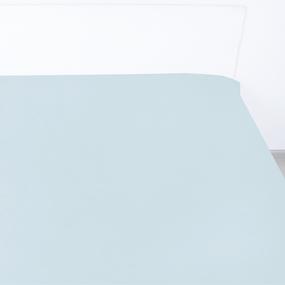 Простыня сатин 14-4504 цвет серо-голубой 1.5 сп фото