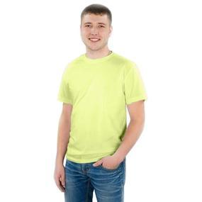 Мужская однотонная футболка цвет салатовый 48 фото