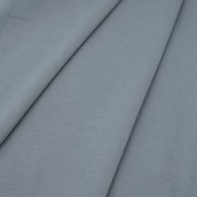 Ткань на отрез футер 3-х нитка компакт пенье начес цвет серый фото