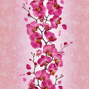 Полотно вафельное 50 см набивное арт 60 Тейково рис 35067 вид 1 Орхидея фото