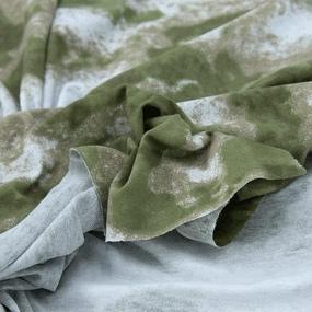 Ткань на отрез кулирка М-2000 Тай-дай цвет хаки фото