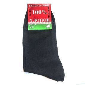 Мужские носки МС-20 Белорусский хлопок цвет черный размер 25 фото
