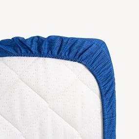 Простыня на резинке перкаль 2049315 Эко 15 синий 90/200/20 см фото