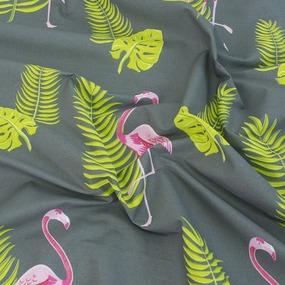 Простыня поплин 28283/1 Розовый фламинго 1.5 сп фото