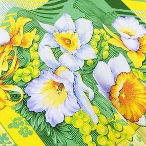 Ткань на отрез вафельное полотно 50 см 170 гр/м2 20021/1 Утренние цветы фото