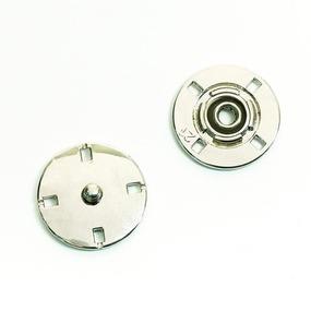 Кнопка металлическая никель КМД-3 №21 уп 10 шт фото