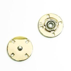 Кнопка металлическая светлое золото КМД-3 №21 уп 10 шт фото