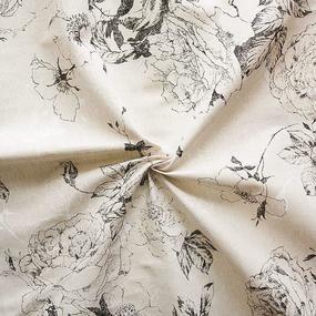 Ткань на отрез полулен 150 см 4912/2 цвет белый фото
