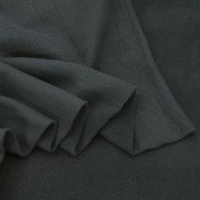 Ткань на отрез флис цвет Темно-серый фото