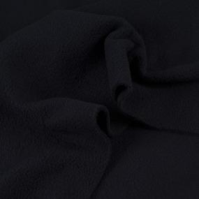 Ткань на отрез флис цвет Черный фото
