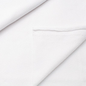Ткань на отрез флис цвет Белый фото