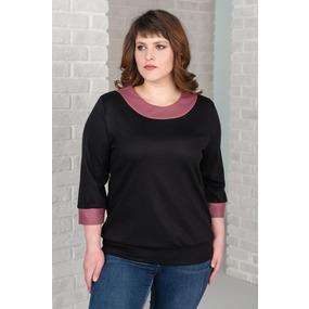 Блуза 0150-11 цвет Черный р 46 фото