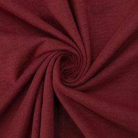 Ткань на отрез кулирка 1507 цвет бордо фото