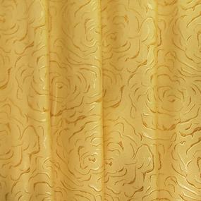 Портьерная ткань 150 см на отрез Роза цвет золото фото