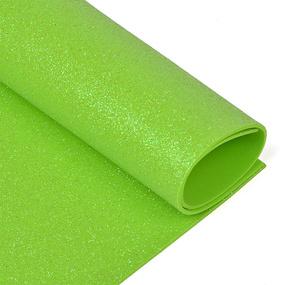 Фоамиран глиттерный 2 мм 20/30 см уп 10 шт MG.GLIT.H045 цвет салатовый фото