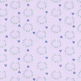 Маломеры кулирка карде Сердечки на розовом 3248-V1 0.75 м фото