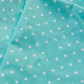 Маломеры поплин 150 см 388/16 Горошек цвет мята 3.6 м фото