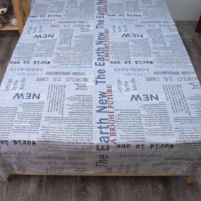 Маломеры Бязь 120 гр/м2 150 см Надписи на голубом 11 м фото