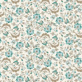 Ткань на отрез рогожка 150 см 3036-1 Китайские цветы фото