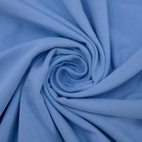 Ткань на отрез кулирка с лайкрой цвет голубой фото