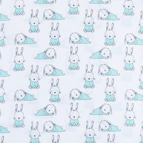 Набор детских пеленок поплин 4 шт 73/120 см 1956/1 Кролики фото