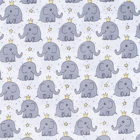 Набор детских пеленок поплин 4 шт 73/120 см 461 Слоники фото