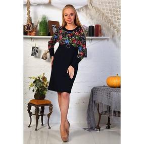 Платье Леся интерлок размер 44 фото