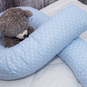 Наволочка бязь на подушку для беременных U-образная 1746/3 цвет голубой фото