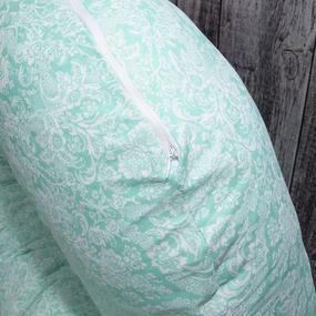 Наволочка бязь на подушку для беременных U-образная 402/16 Дамаск цвет мята фото