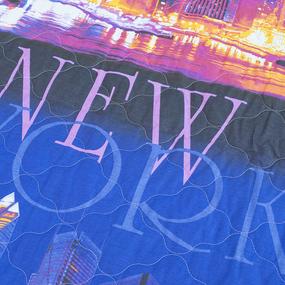 Покрывало стеганое Нью-Йорк 623-1 черника 150/210 фото