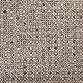 Ткань на отрез сатин набивной 80 см 5622/2 Анже цвет коричневый фото