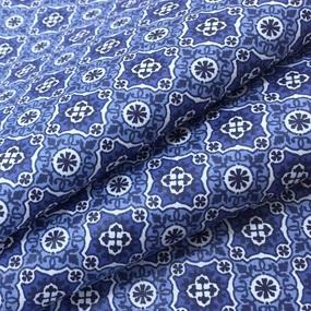 Ткань на отрез сатин набивной 80 см 5622/4 Анже цвет синий фото