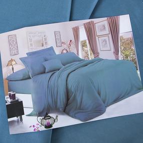 Сатин гладкокрашеный 250 см 17-4412 цвет т-бирюза фото