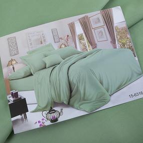 Сатин гладкокрашеный 250 см 15-6316 цвет спокойный зеленый фото