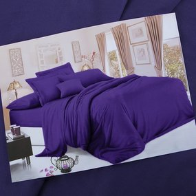 Ткань на отрез сатин гладкокрашеный 250 см 19-3622 цвет фиолетовый фото