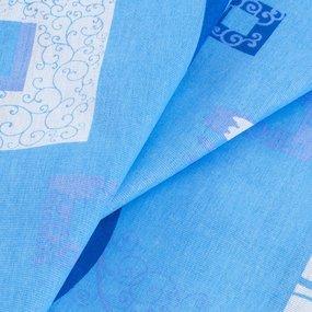 Ткань на отрез бязь ГОСТ 150 см 348/1 Пикассо цвет голубой фото