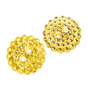 Пуговицы Блузочные со стразами 2-прок 13 мм цвет Т106 желтый упаковка 12 шт фото
