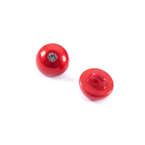 Пуговицы Блузочные со стразой 12 мм цвет красный упаковка 24 шт фото
