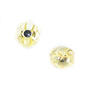 Пуговицы Блузочные со стразой Цветок проз 13 мм цвет А085 лимон упаковка 24 шт фото