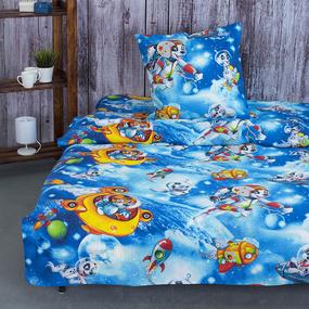 Детское постельное белье из бязи 1.5 сп 10074/1 Космики фото