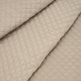 Курточная ткань на отрез цвет кремовый фото