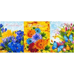 Ткань на отрез вафельное полотно набивное 150 см 10909 Цветник фото