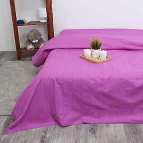 Пододеяльник из перкаля 2049312 Эко 12 пурпурный, Евро фото