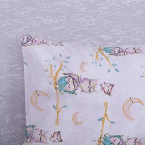 Наволочка перкаль детская 13233/1 Owls Модель 5 в упаковке 2 шт 50/70 см фото