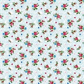Ткань на отрез ситец 95 см 18509/1 Цветы фото