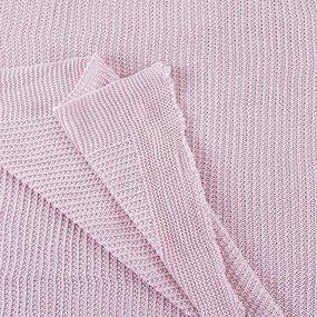 Покрывало-плед Петелька 180/200 цвет розовый фото