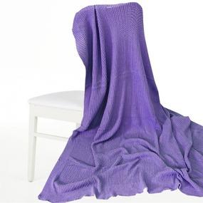 Покрывало-плед Петелька 180/200 цвет фиолетовый фото