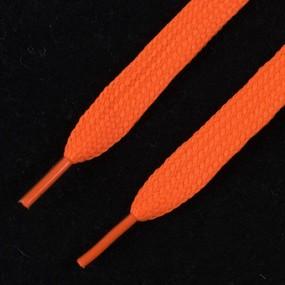 Шнурки плоские, оранжевый 115см уп 2 шт фото