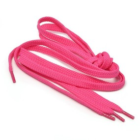 Шнурки плоские, розовый 115см уп 2 шт фото